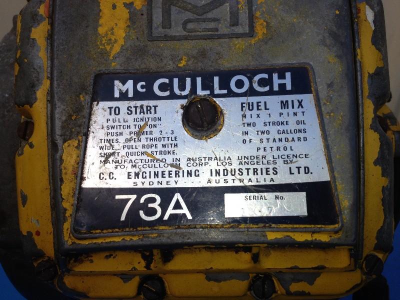 73a Mcculloch Australian model restoration - Chainsaw